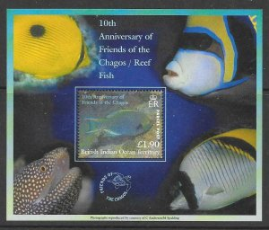 BRITISH INDIAN OCEAN TERR SGPMS1 2001 PARCAL POST STAMP  MNH