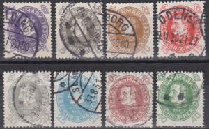 Denmark #211-6, 218-9 F-VF Used CV $53.75 (B3739)