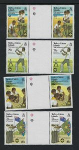 1982 Turks & Caicos gutter pairs Boy Scout 75th anniversary