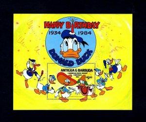 ANTIGUA - 1984 - DISNEY - DONALD DUCK - CARIBBEAN CRUISE - MINT - MNH S/SHEET!