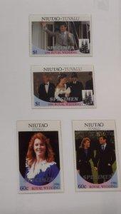 O) 1986 TUVALU, SPECIMEN, NIUTAO, COUPLE, SARAH FERGUSON, PRINCE ANDREW, SARAH I