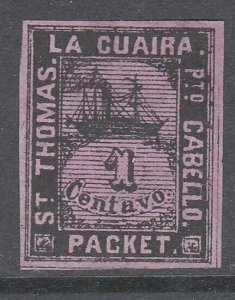 VENEZUELA  La Guiara ship local post - an old forgery  of this classic......D454