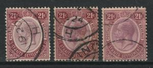 Malaya Straits Settlements 1913 KGV 21c Shades Used MCCA SG#204 M1935