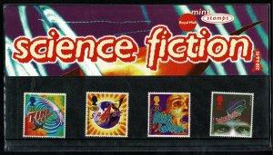 G.B.QE II 1995 SCIENCE FICTION NOVELS MINT (NH) SG1878-81 P.O. PACK 258 SUPERB