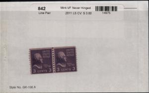 US 842 MNH Line Pair