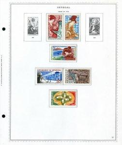 Senegal Mint NH 60's & 70's Vintage Stamp Collection
