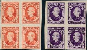 Stamp Slovakia Block Sc 28-9 1939 WWII Imperf Andrej Hlinka MNH