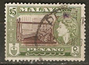Malaya Penang 55 SG 54 Used VF 1957 F/VF SCV $15.00