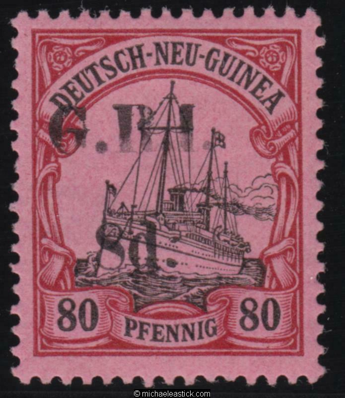 1914 New Guinea 8d GRI overprint on 80pf, SG 26, MH