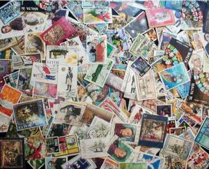 Malta Stamp Collection - 200 Different Stamps