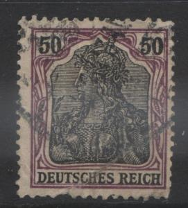 GERMANY -Scott 73- Definitives -1902 -Used - Pur & Blk Buff - Single 50pf Stamp3