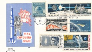 United States sc# 1434-5 FDC Kennedy Space Center FL Space with Related Stamps