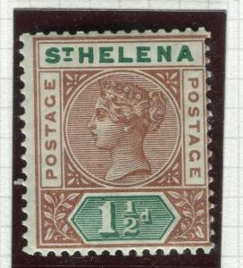 ST. HELENA; 1890-97 early QV issue Mint hinged 1.5d. value