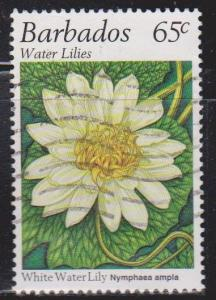 BARBADOS Scott # 906 Used - White Water Lilly