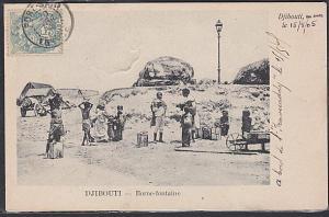 DJIBOUTI via FRENCH PO IN EGYPT 1907 postcard to France....................53679