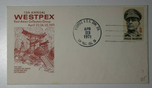 WESTPEX EACG Conv Sta San Francisco CA 1971 Philatelic Expo Cachet Cover