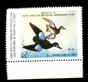 U.S. South Carolina Duck Stamp #9 MINT VF Cat$11