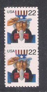 UNITED STATES SC# 3259b  PAIR  VF/MNH