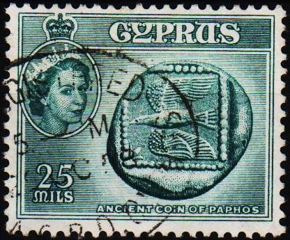 Cyprus.1955 25m S.G.179 Fine Used