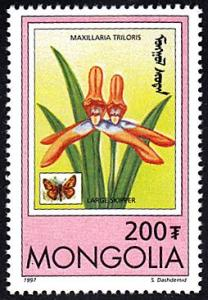 Mongolia # 2271 mnh ~ 200t Orchid, Butterfly