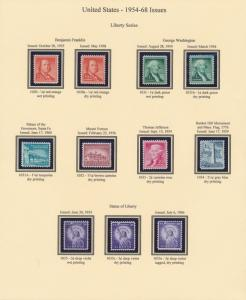 #1030-1053 VF OG NH METICULOUSLY ASSEMBLED SET WITH WET & DRY PRINTINGS BU273