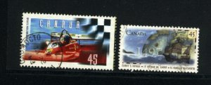 Canada #1647, 1649   -3    used VF 1997  PD