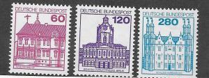 Germany #9N441,9N443,9N444  Buildings  (MNH) CV $3.50