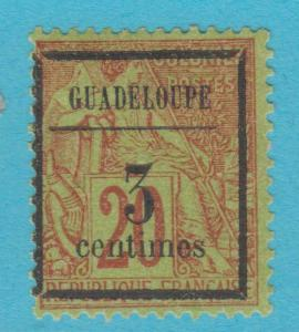 GUADELOUPE 3 MINT HINGED OG *   NO FAULTS  VERY FINE !