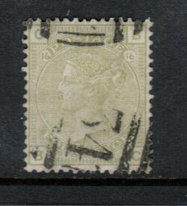 Great Britain #70 Extra Fine Used Plate #16
