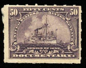 B268 U.S. Revenue Scott R171 50-cent Battleship mint never hinged