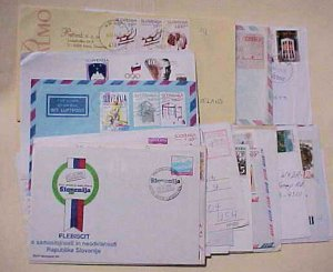 SLOVENIA,SLOVENSKO 22  COVERS AFTER 1990's MOSTLY TO USA