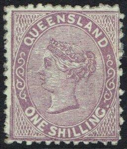 QUEENSLAND 1879 QV 1/-