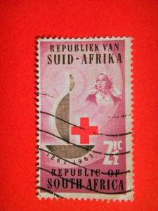 SOUTH AFRICA ,1963, used 2½c, Cent of Red Cross. Inscr ?1863?1963?.