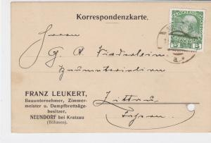 Austria 1911 from Franz Leukert  Stamps Card ref R 19468