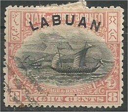 LABUAN, 1894, used 8c, Dhow Scott 54