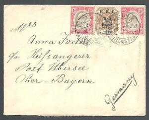 TRANSVAAL 1902 mixed EVII & ERI opt on cover Pretoria to Germany...........62082