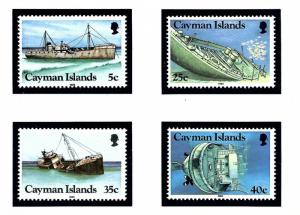Cayman Is 539-42 MNH 1985 Ships