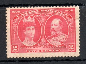 Canada 1908 2c Quebec mint MH #98 WS14123