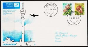 South Africa. 1980 Cover. 1st Flight. Johannesburg-Taipei. Fine Used