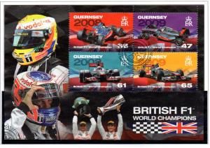Guernsey Sc 1145a 2011 Formula 1 Racers stamp sheet used