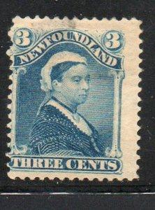 Newfoundland Sc 49 1896 3 c blue Victoria stamp mint