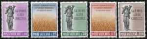 Vatican City Scott 330-34 MNHOG - 1962 Priesthood Complete Set - SCV $3.75