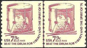 1615 Mint,OG,NH... Line Pair... SCV $6.00... Dull gum