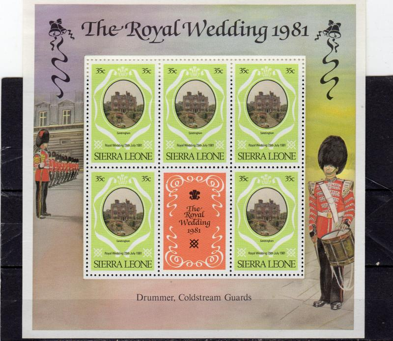 Sierra Leone 1981 Royal Wedding MNH