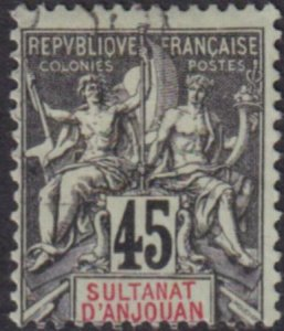 Anjouan 1907 SC 15 Used