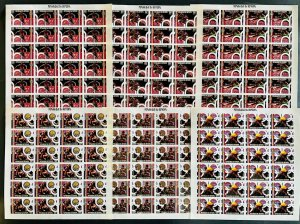Stamps Olympic Games Montreal 76 Senegal 1976 Set in Sheets Imperf.