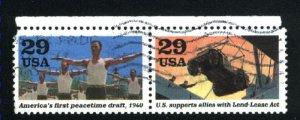 USA 2559b,c  Pair   used 1991  PD