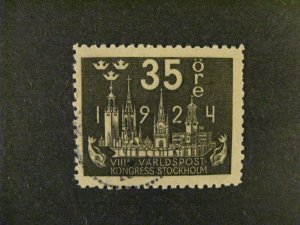 Sweden #203 used  a21.9 3238
