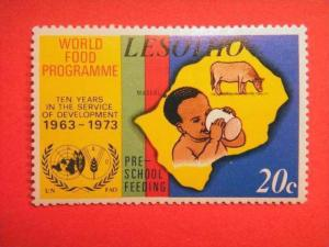 LESOTHO, 1973, MH 20c,10th Anniv of World Food Programme.