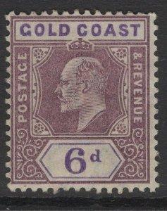GOLD COAST SG43 1902 6d DULL PURPLE & VIOLET MTD MINT